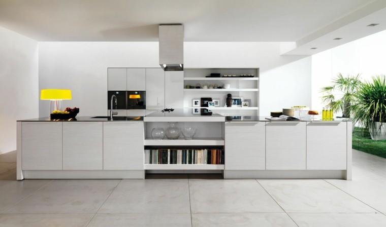 fotos de cocinas modernas blancas