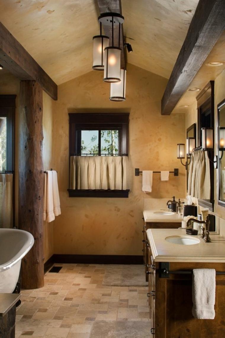 fresco interior baño tronco calido