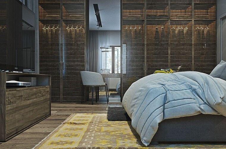 funcionalidad apartamento moderno armario puertas madera originales ideas