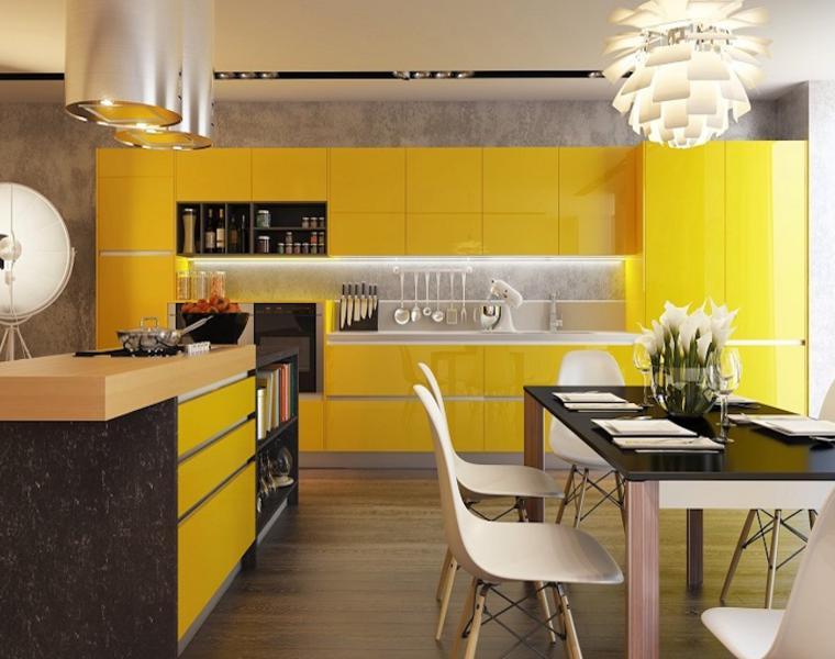 gabinetes amarillos