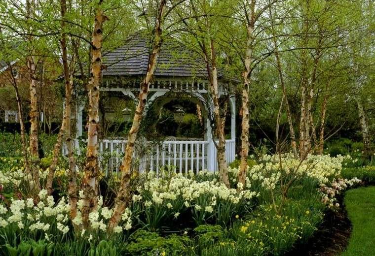 gazebo moderno jardin blanco estilo tradiciconal ideas