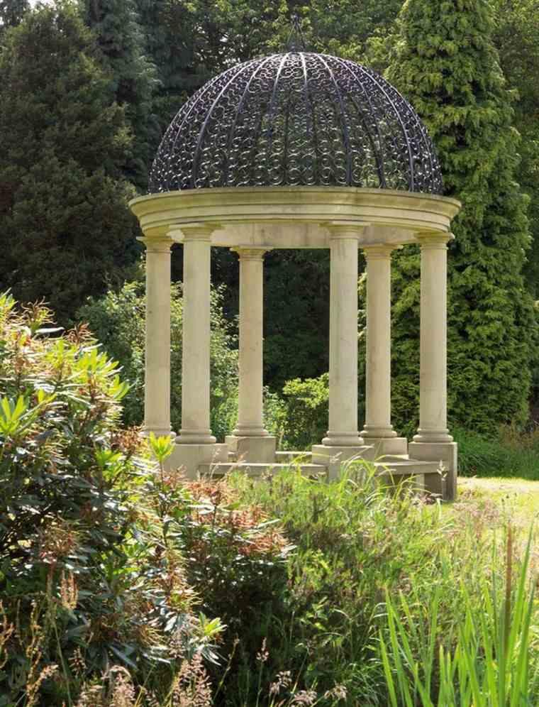 gazebos moderno jardin columinas hormigon ideas