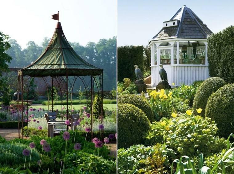 gazebos jardin acero espacio descanso preciosos ideas
