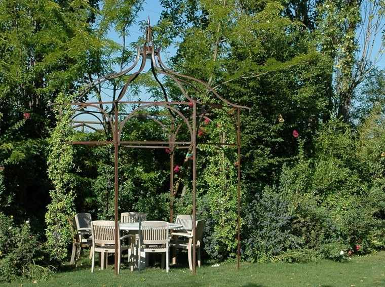 gazebos meta mesa sillas madera teca jardin amplio ideas