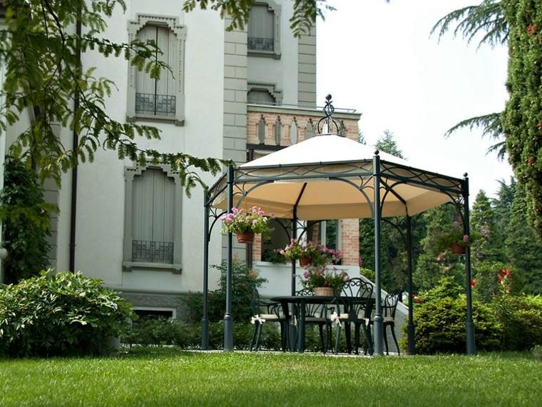 gazebos metal macetas decorativas jardin cesped ideas