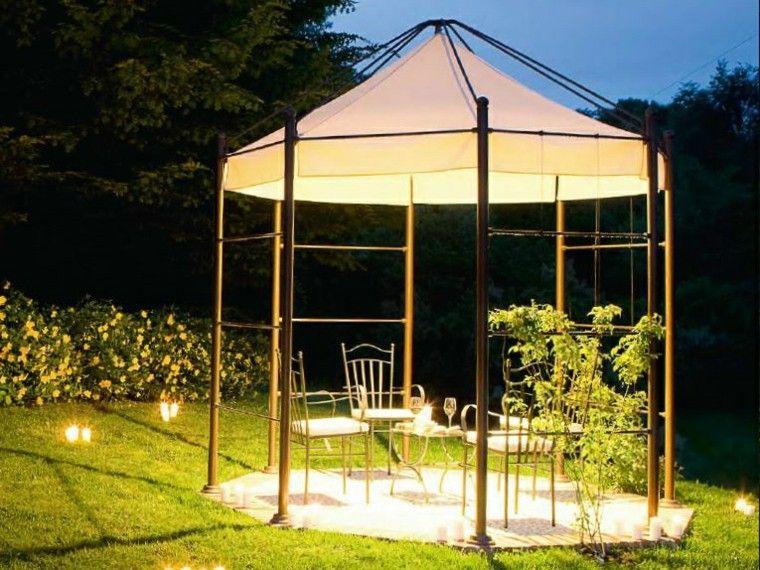 gazebos preciosos jardin moderno acero negro aldo bernardi ideas