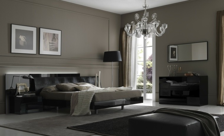 gris verdoso cuarto moderno paredes