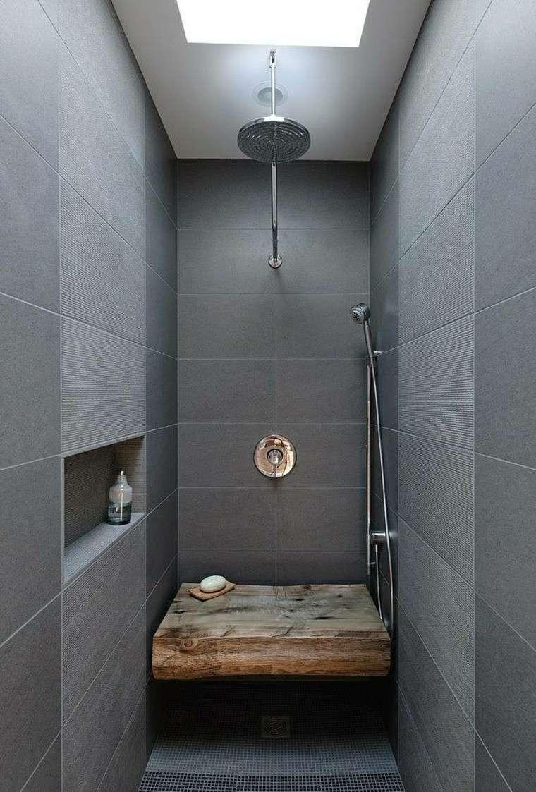 grises tonos estilo madera ducha