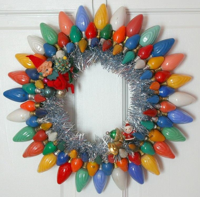 guirnalda corona bombillas colores gnomo