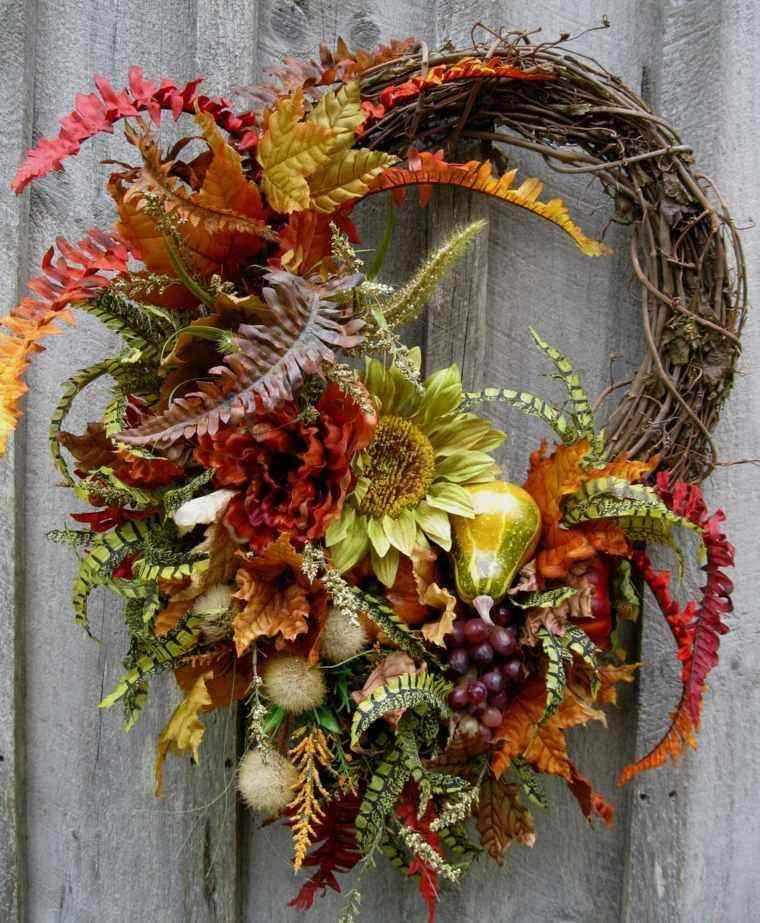 guirnalda decorativa hojas de arboles