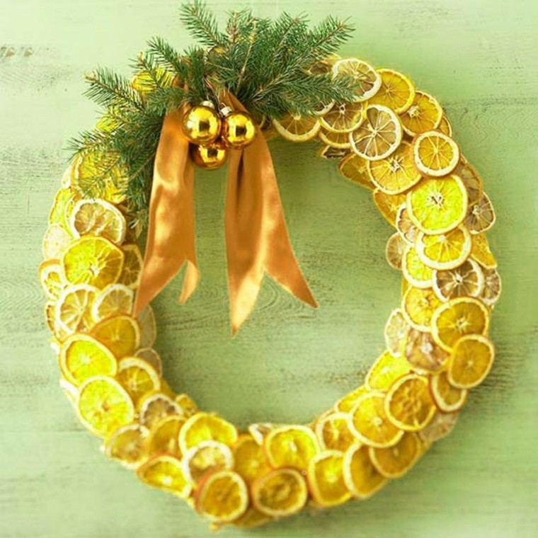 guirnalda navideña rodajas limon