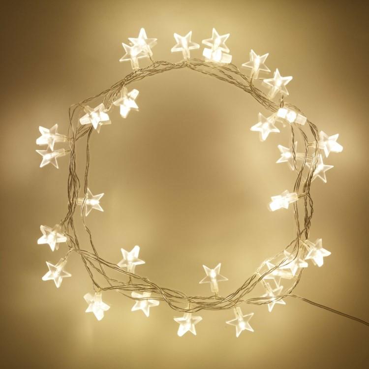 Luces de navidad 50 ideas festivas para decorar la casa - Luces de pared para dormitorio ...