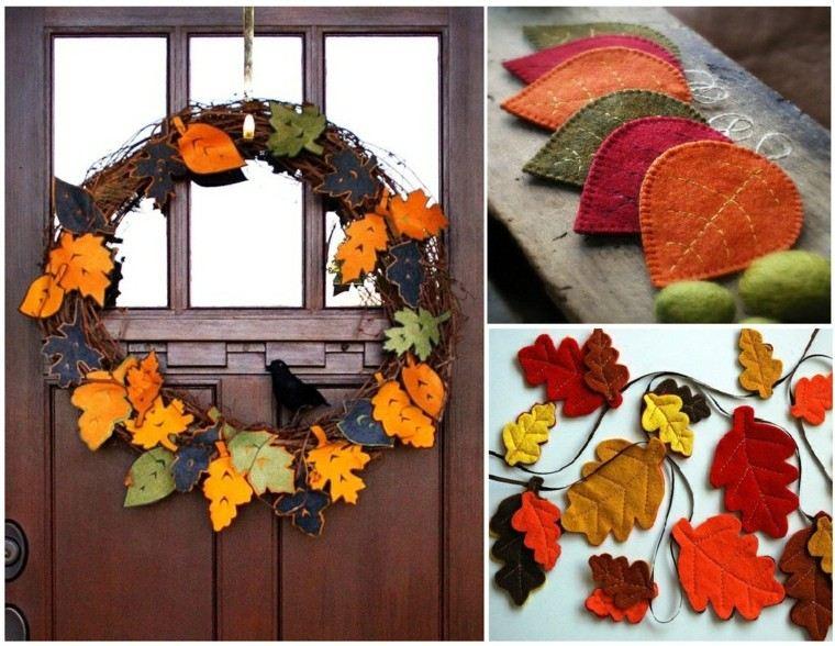 gurnaldas hojas secas arbol decorativas casa moderna ideas