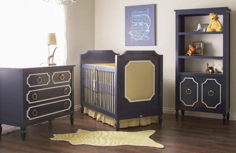 habitacion bebe mueble cina armario negro elegante ideas
