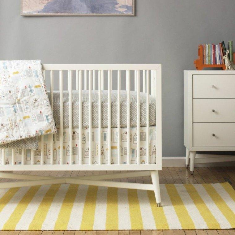 habitacion bebe mueble cuna armario madera blanca ideas
