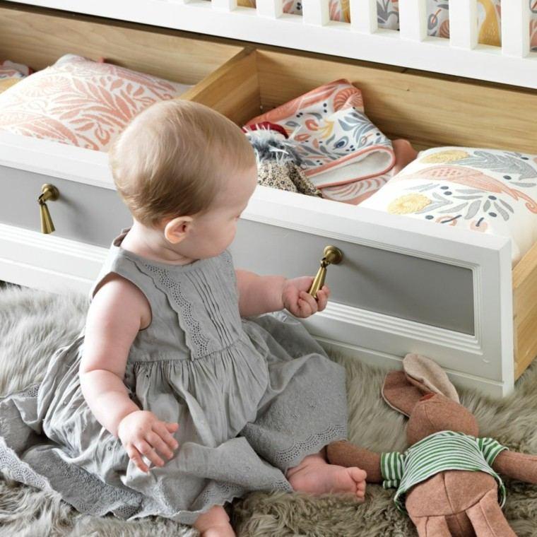 habitacion bebe mueble cuna armarios debajo util ideas