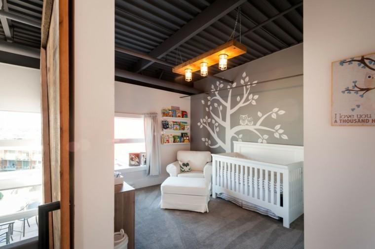 habitacion bebe mueble cuna sillon blancos ideas