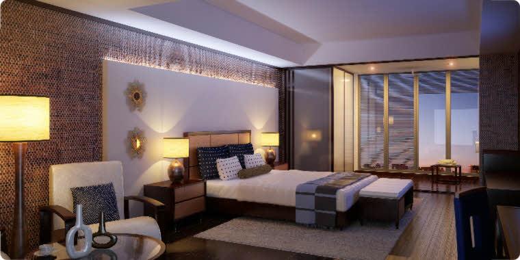 habitacion lujosa moderna diseño pared