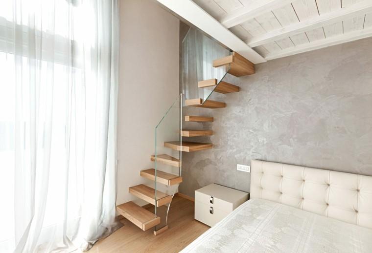 habitacion moderna diseño escalones colgantes