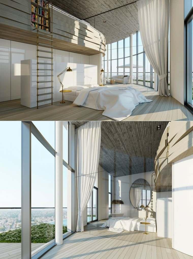 habitaciones de matrimonio dorado lujo escalera