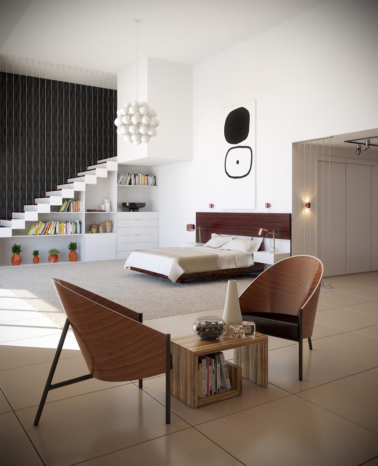 habitaciones decoracion diseño contemporanea sillas funcional
