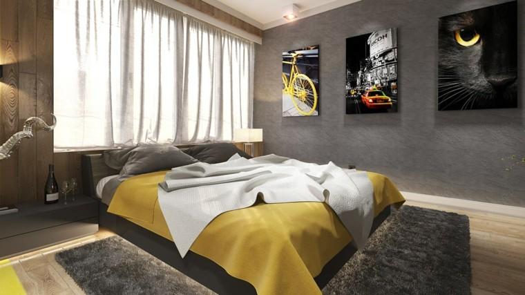 habitaciones decoracion diseño gatos cuadros cortinas