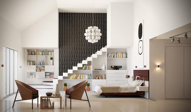 habitaciones decoracion diseño madera sillones metal