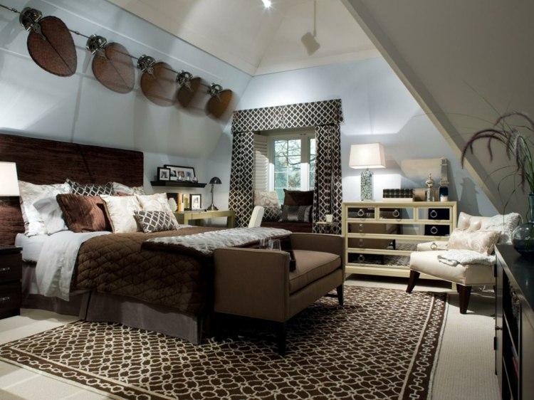 habitaciones decoracion marrones casa