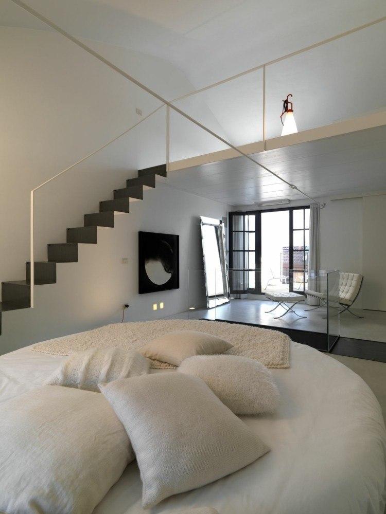 habitaciones decoracion minimalista lampara esaclera