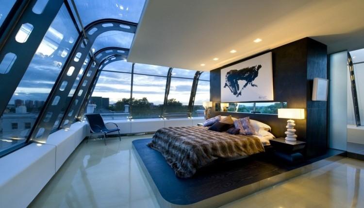 habitaciones decoracion moderna cuadro atardecer