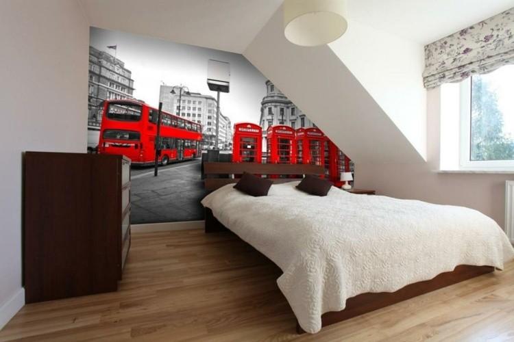 habitaciones decoracion rojo poster muebles