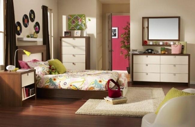 habitaciones infantiles modernas color madera
