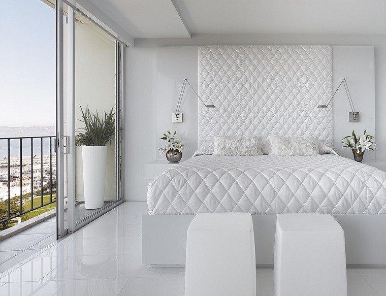 diseño habitaciones modernas todo blanco