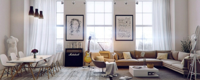 ideas decoracion salones abierto espacio torso