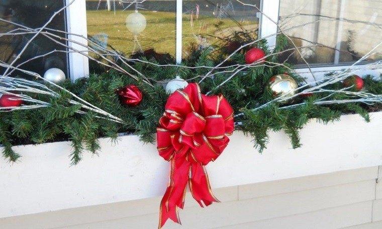 adornos de navidad ideas estilo ventana atractiva