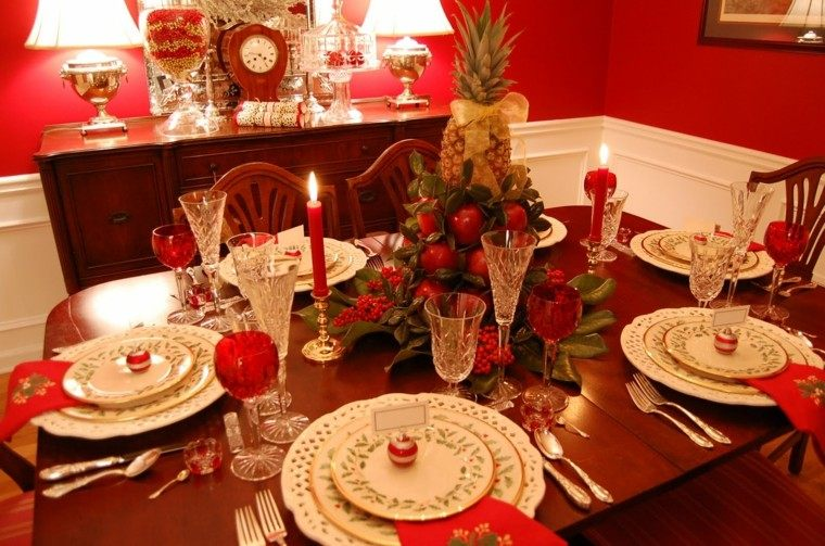 intenso rojo espacio decorado vela