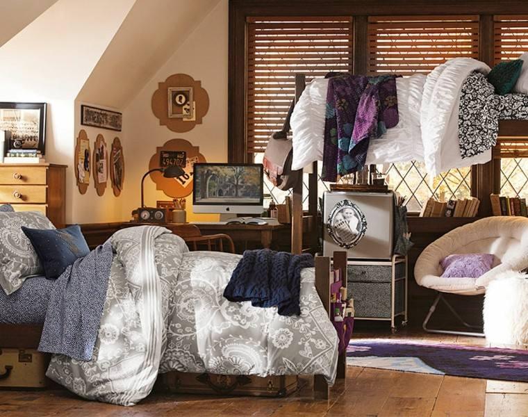 interesante boho estilo cama paredes