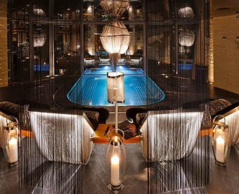 interior agradable lujo elegante faroles velas