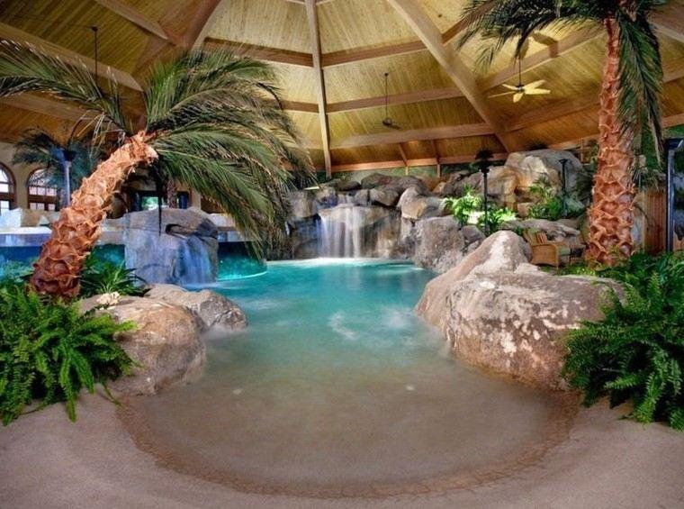 interior cielo simulado palmeras oasis