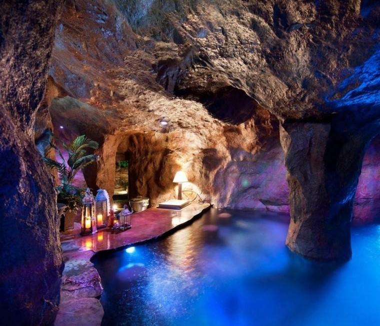 interior cielo simulado rocas cueva