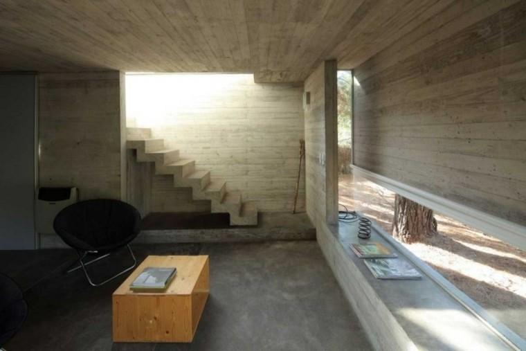 interior diseño moderno escaleras cemento