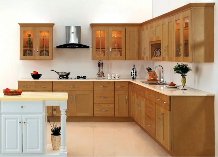 isla cocina blanca estilo retro