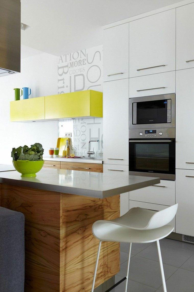 Color blanco y madera de roble para las cocinas modernas for Cocinas de madera modernas