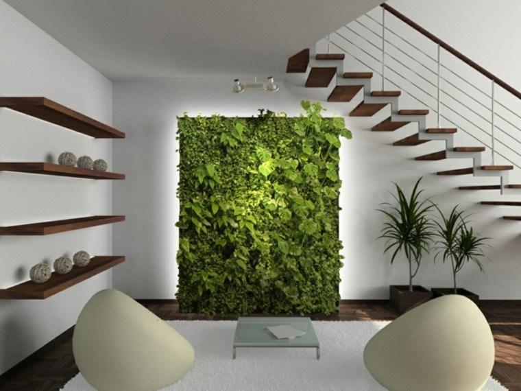 jardin vertical escalones modernos colgantes