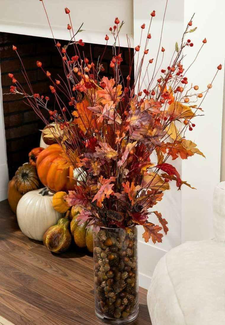Hojas de arboles secas para adornos de oto o 50 ideas - Herbstdeko pinterest ...