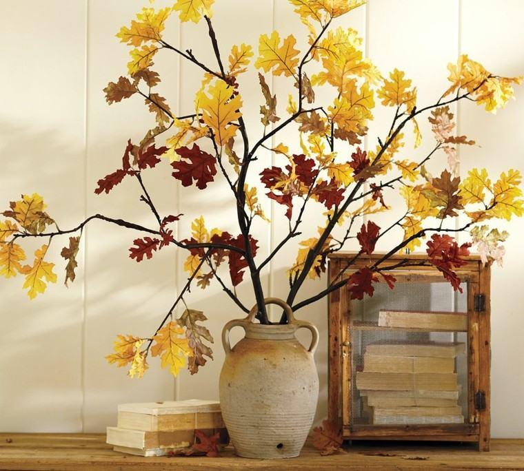 jarron ramas hojas secas arbol decorativas casa ideas