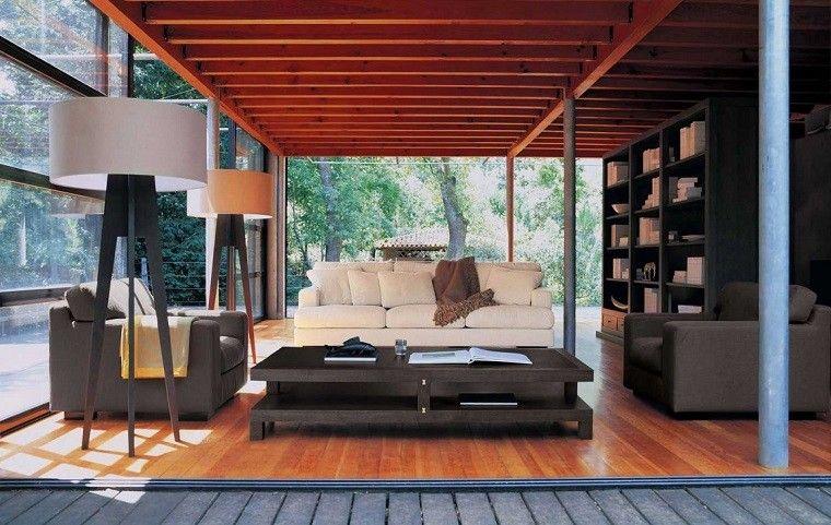lamaparas-preciosas-madera-salon-moderno