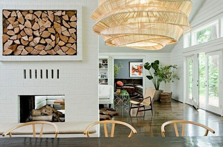 lampara espiral calido espacio paredes