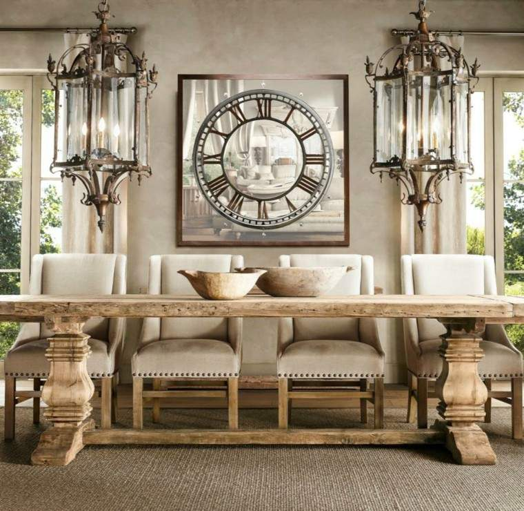lamparas decoracion manera estilo rustica