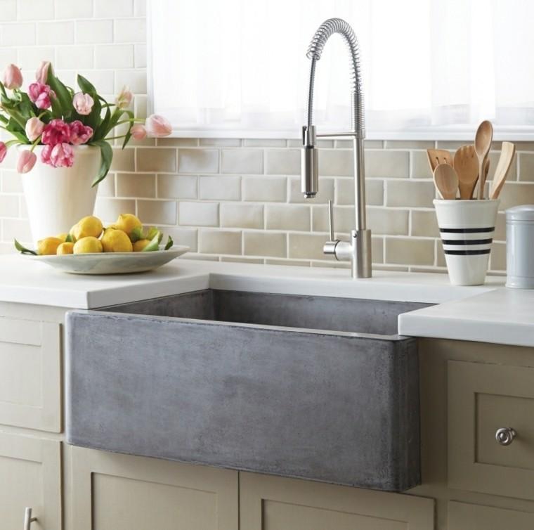 lavadero cocina diseño cemento vaso